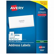 Address Labels Avery Avery 174 Address Labels For Copiers Permanent Adhesive 1