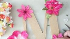 letras con flores letra de madera decorada con flores