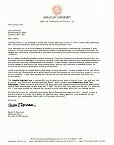 Award Acceptance Letter Example College Acceptance Letter Levelings