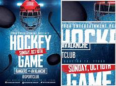 Hockey Flyer Template Ice Hockey Flyer Template 2 Flyerheroes