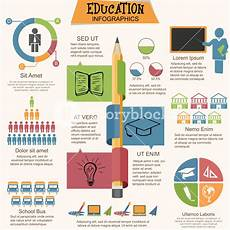big set of education infographic elements with creative