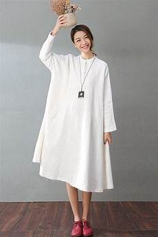 white casual cotton linen dresses sleeve shirt