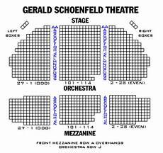 Gerald Schoenfeld Theatre Seating Chart Gerald Schoenfeld Theatre Playbill
