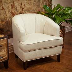 living room furniture beige fabric tub accent club chair