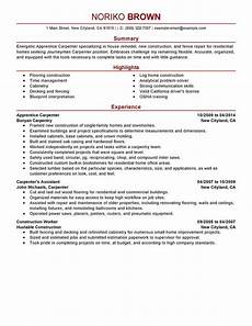 Carpentry Resume Sample Apprentice Carpenter Resume Sample Carpenter Resumes