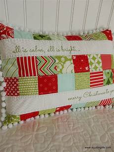 merry patchwork pillow a quilting