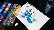 watercolor stitch painting