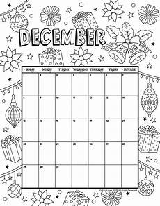November 2020 Calendar For Kids December 2019 Coloring Calendar Kids Calendar Calendar