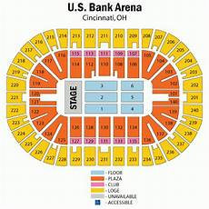 Us Bank Seating Chart Metallica Us Bank Arena Seating Chart With Rows And Seat Numbers