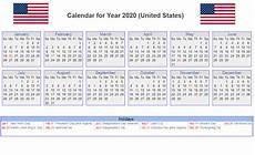 Us Calendars Us 2020 Calendar Yearly 12 Month Printable Calendar 2020