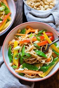 asiatische rezept asiatischer nudelsalat mit erdnusssauce einfach