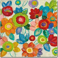 Walmart In Silvis Trademark Fine Art Quot Decorative Flowers Bright Crop Quot Canvas