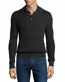 mens knit shirts sleeve tom ford s waffle knit sleeve polo shirt neiman