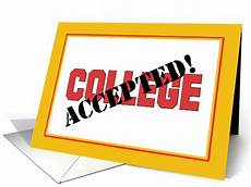Getting Accepted To College Congratulations On Getting Accepted To College Card 1542606