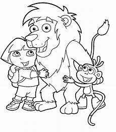 Dora Coloring Pages Dora The Explorer Printable Coloring Pages Hubpages
