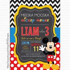 Mickey Mouse Party Invitations Free Mickey Mouse Inspired Birthday Invitations Free Printable