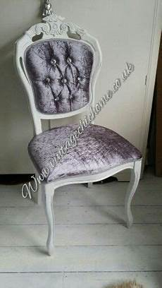 crushed velvet dressing table chair with beautiful