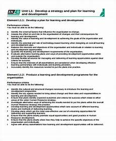 Learning And Development Template Learning Plan Template 10 Free Samples Examples Format