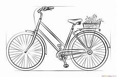 how to draw a bicycle step by step drawing tutorials