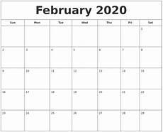 Calendars January 2020 February 2020 January 2020 Calendar