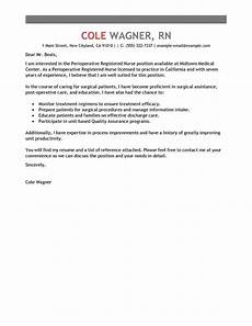 Nursing Instructor Cover Letters Amazing Perioperative Nurse Cover Letter Examples