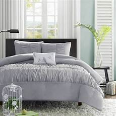 Light Grey Textured Duvet Cover Beautiful Modern Grey Chic Soft Ruffle Ruched Texture