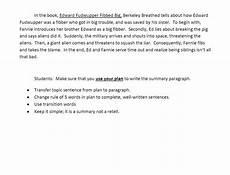 Summary Paragraphs Sample Summary Paragraph Sixth Grade English Language Arts