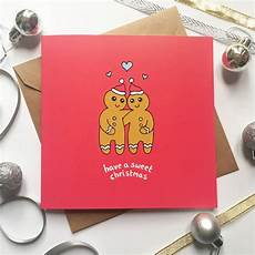 Romantic Christmas Cards Romantic Christmas Card Gingerbread People By Ladykerry