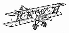 Airplanes Drawings Biplane Style Vintage Airplane Ink Drawing Clipart Ready For