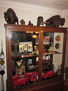 large antique display trophy cabinet out of school