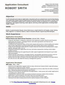 Business Objects Resume Samples Application Consultant Resume Samples Qwikresume