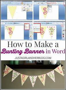 Make Happy Birthday Banner Online Free How To Make A Bunting Banner In Word With Clip Art Tips