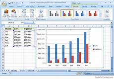Excel Charts Samples Ms Excel 2007 How To Create A Column Chart