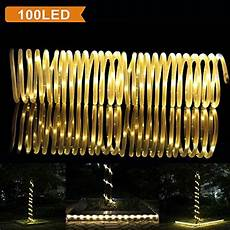 Best Outdoor Solar Led Rope Lights Lte 100 Led Solar Rope Lights 33ft Outdoor Waterproof