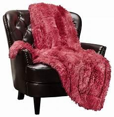 chanasya faux fur sherpa throw blanket color