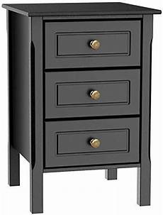 buy yaheetech black gloss 3 drawers bedside table cabinet