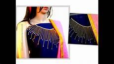 neckline maggam aari work designing on dress