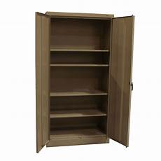 tennsco used 72 inch storage cabinet light brown