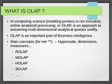 What Is Olap Tutorial Olap4j