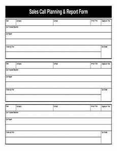 Sales Call Reports Templates Free Sales Call Form Fill Online Printable Fillable Blank