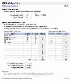 Gpa Calculator Excel Template Free Gpa Calculator For Excel How To Calculate Gpa