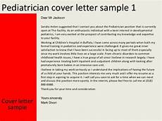 Pediatric Nurse Cover Letters Pediatrician Cover Letter