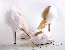 Designer Shoes With Feathers Shoe White Feather Wedding High Heel Shoes 2260801