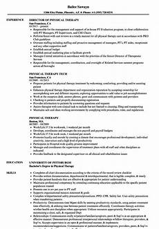 Resume For Therapist Physical Therapy Resume Sample