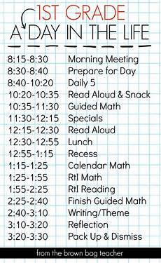 How To Make Schedules 1st Grade Schedule A Day In The Life First Grade