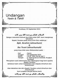 undangan tahlil doc wood scribd indo