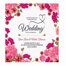Pink Invitation Card Rectangular Floral Wedding Card Rs 35 Sheet Win Print