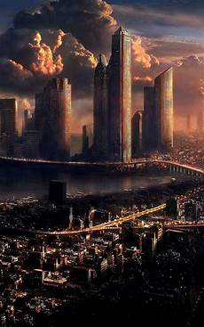 Iphone Wallpaper City Skyline by Futuristic City Skyline Iphone 6 Plus Hd Wallpaper Ipod