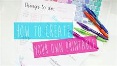 How To Make Your Own Planner Pages In Word Create Your Own Printable Planner Tips Amp Tricks Youtube