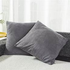 best dreamcity set of 2 faux suede cushion covers
